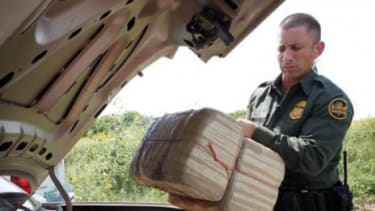 Authorities found a car loaded with 800 lbs. of marijuana outside of McAllen, Texas.