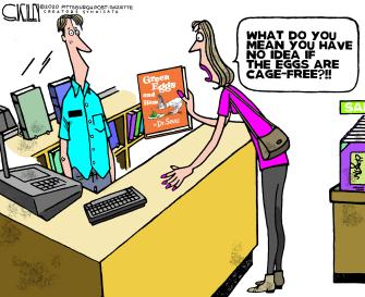 Editorial Cartoon U.S. dr seuss green eggs and ham