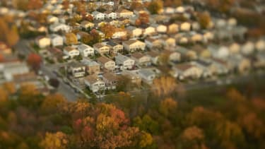 The suburbs outside of New York City.