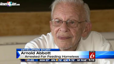 A 90-year-old Florida man could go to jail for feeding the homeless