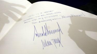 President Trump's note at Yad Vashem.
