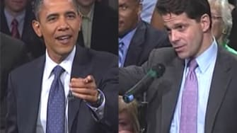 Obama and Anthony Scaramucci spar on CNBC in 2010