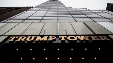 Trump Tower looms above New York City.