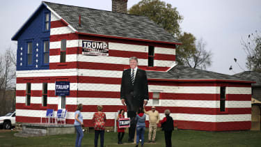 A giant Trump sign in Pennsylvania.