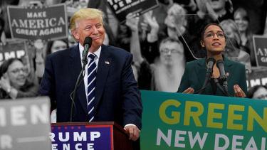 President Trump and Alexandria Ocasio-Cortez.