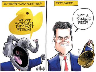 Political Cartoon U.S. gop matt gaetz