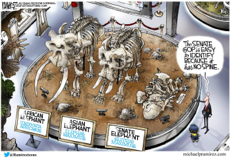Political Cartoon U.S. gop impeachment trump