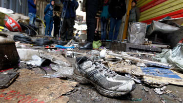 Aftermath of an ISIS attack in Baghdad on Dec. 31