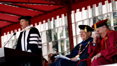 Will Ferrell gives the commencement address at USC.