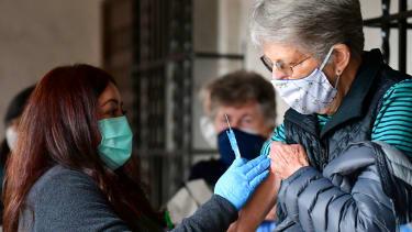 A vaccination center