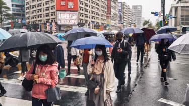 Pedestrians in Taipei, Taiwan