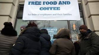 Meals offered for furloughed government employees.