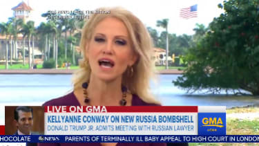 Conway had to account for her claim in December that the Trump campaign did not have contract with Russians.