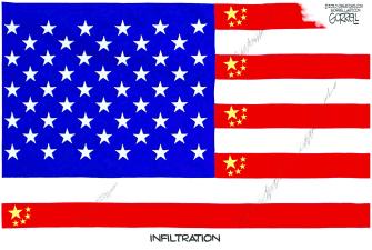 Political Cartoon U.S. China spying
