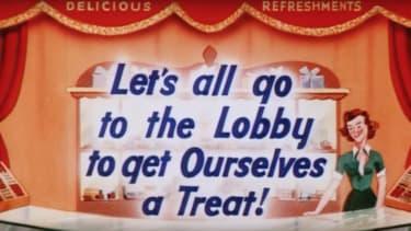 Movie theater intermission ad.