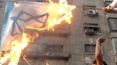 Egyptians stormed the Israeli consulat in Cairo last week