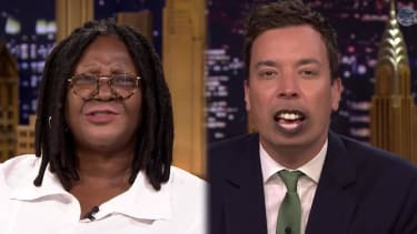Whoopi Goldberg and Jimmy Fallon trade mouths, accents, and jokes