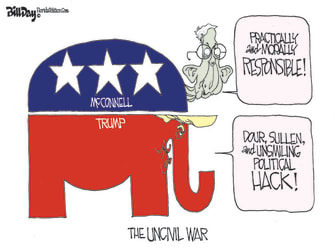 Political Cartoon U.S. gop trump mcconnell