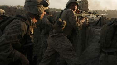 American soliders in battle.