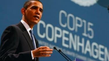 Obama address the Copenhagen climate conference.