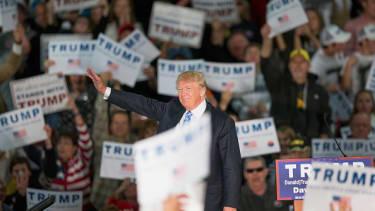 A Donald Trump campaign rally In Davenport, Iowa
