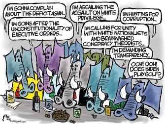 Political Cartoon U.S. GOP Biden