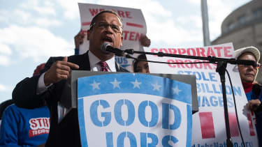 Keith Ellison encouraged Trump to stop federal contractors from exploiting workers.