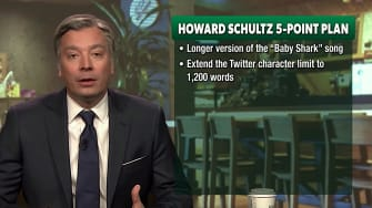 Jimmy Fallon debuts his Howard Schultz impersonation