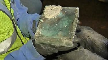Time capsule buried by Paul Revere and Samuel Adams unearthed in Boston