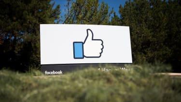 The Facebook logo in California
