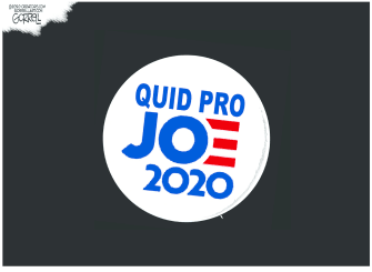 Political Cartoon U.S. Biden quid pro quo