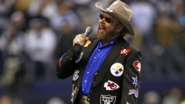 Hank Williams Jr. sings his signature NFL opener live: ESPN's firing of the country star has critics wondering if the punishment fit the crime.