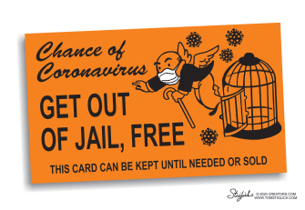 Editorial Cartoon U.S. prisoners get out of jail card coronavirus