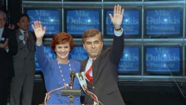 Michael and Kitty Dukakis in 1988