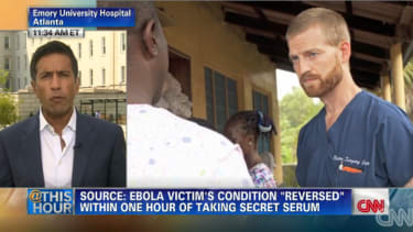 Experimental Ebola serum may have saved two infected American doctors