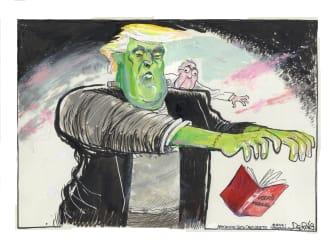 Political Cartoon U.S. Trump McConnell Frankenstein