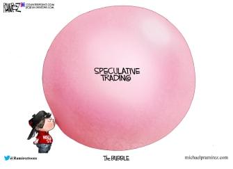 Editorial Cartoon U.S. investors bubble wall street