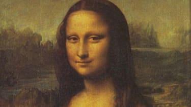 "Leonardo Da Vinci signed his initials on the right pupil of ""Mona Lisa."""