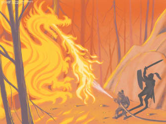 Editorial Cartoon U.S. wildfires California Oregon Washington