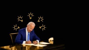 President-elect Joe Biden signs legislation.