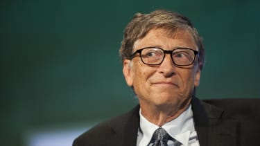 Bill Gates listens during a meeting in NYC