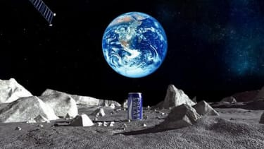 Japanese beverage company unveils plan to put first ad on the moon