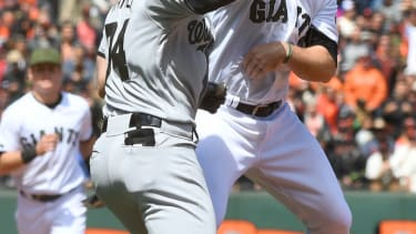 Bryce Howard and Hunter Strickland duke it out