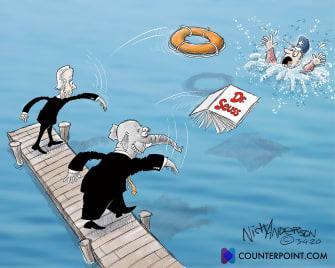 Political Cartoon U.S. gop biden covid relief dr seuss
