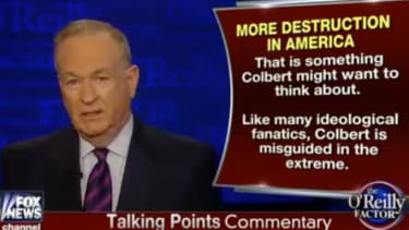 Bill O'Reilly has some choice words for Stephen Colbert