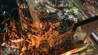 Hotel collapse in Quanzhou, China.