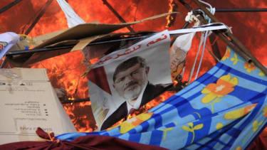 A Mohamed Morsi poster