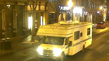 The suspected RV used in the Nashville bombing.