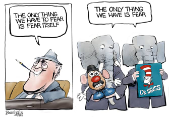 Political Cartoon U.S. fdr gop dr seuss potato head
