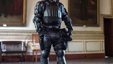 Brazilian police are going to a wear a terrifying 'Robocop' suit during the World Cup